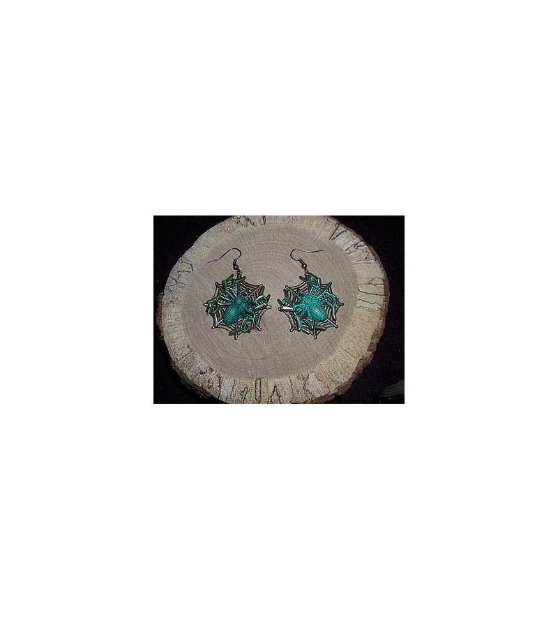 Paire de boucles d'oreilles araignées
