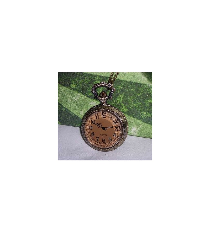 Collier-montre grand format Couleur ambrée