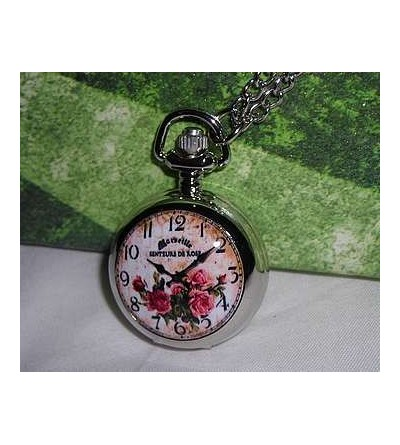 Collier-montre petit format Senteurs de rose