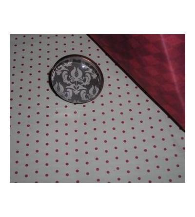 Bague cabochon motif floral blanc