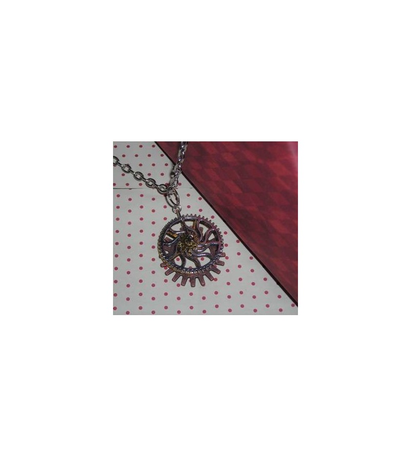 Collier rouages steampunk