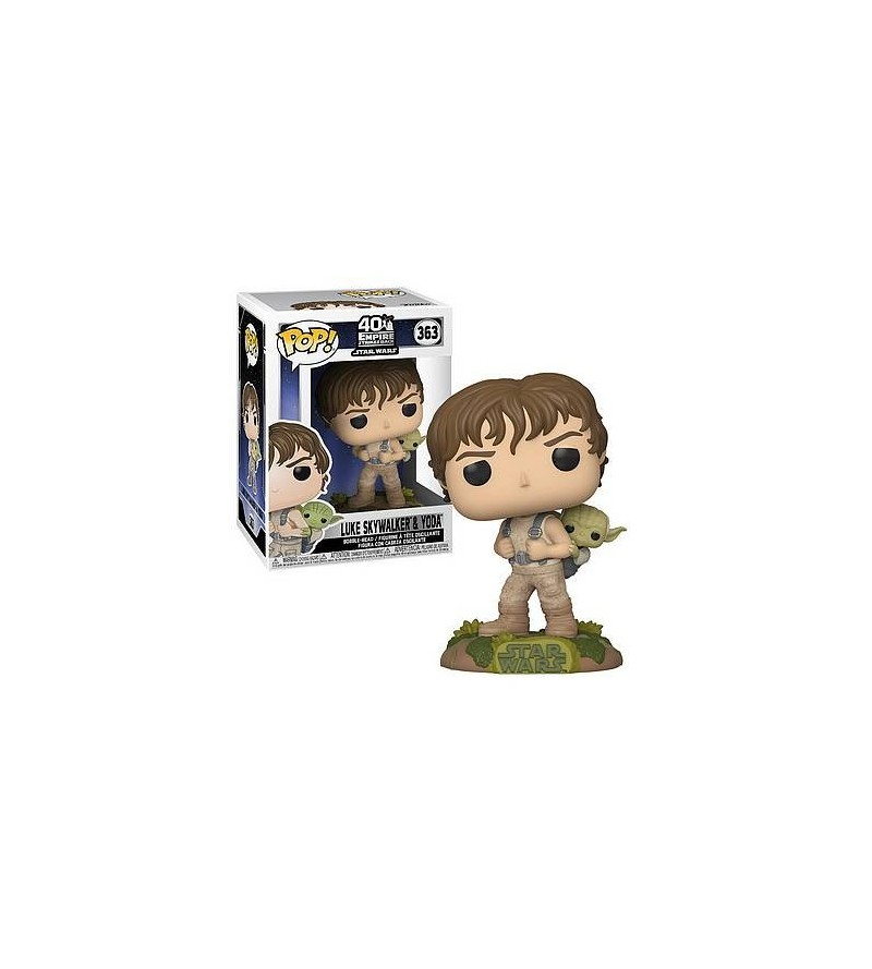 Figurine pop! Star wars – the empire strikes back : Luke Skywalker & Yoda (N°363)