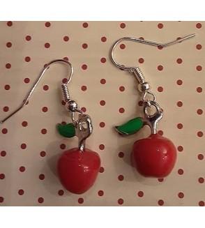 Boucles d'oreilles pommes