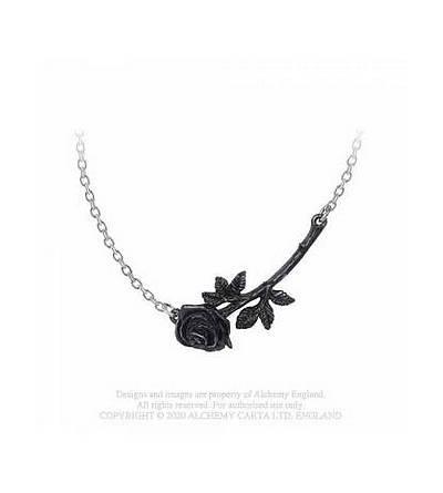 Collier Black rose enigma