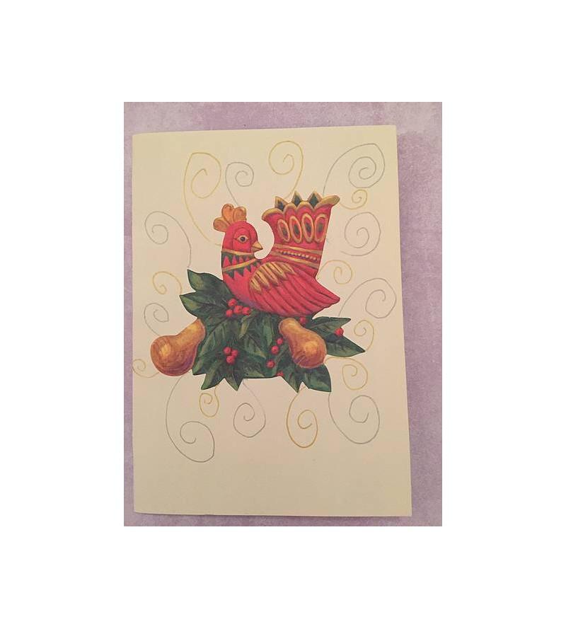 Carte postale pop up sapin...