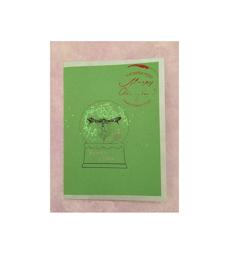 Carte postale Boule à neige...