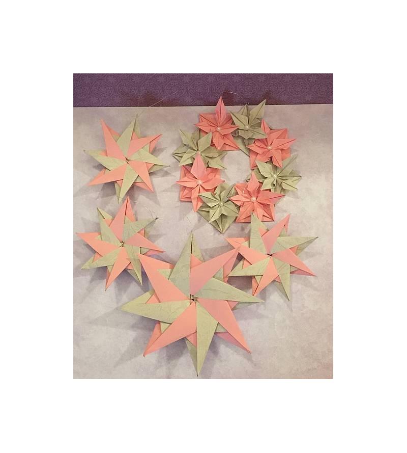 Lot décoration origami...