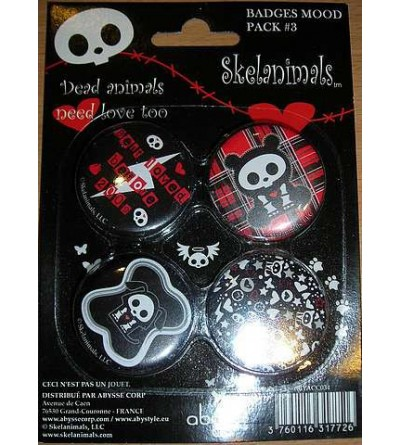 4 badges skelanimals, pack 3