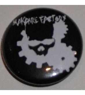 Badge Makabre factory, crâne