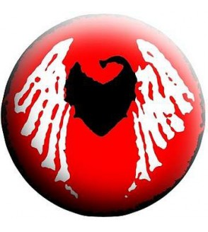 Badge TomaBW Coeur ailé rouge