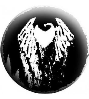 Badge TomaBW Coeur ailé noir