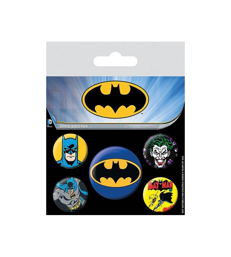 Lot de 5 badges Batman