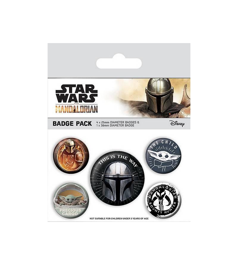 Lot de 5 badges Star wars –...