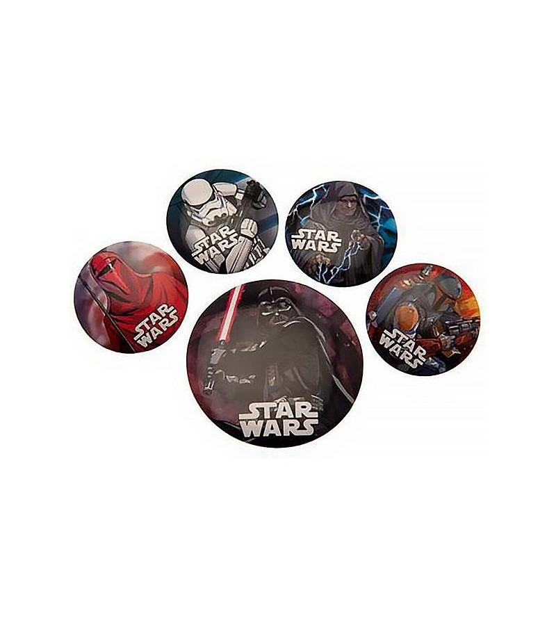 Lot de 5 badges Star wars :...