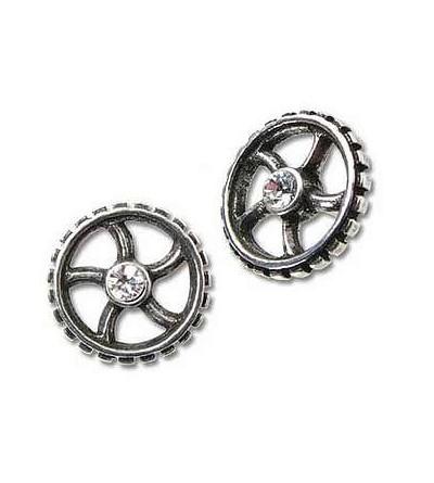 Paire de boucles d'oreilles Diamond crank-wheel