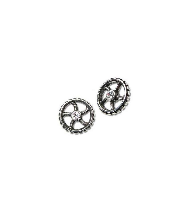 Paire de boucles d'oreilles Diamond crank-wheel