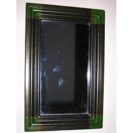 Miroir bois vert et noir