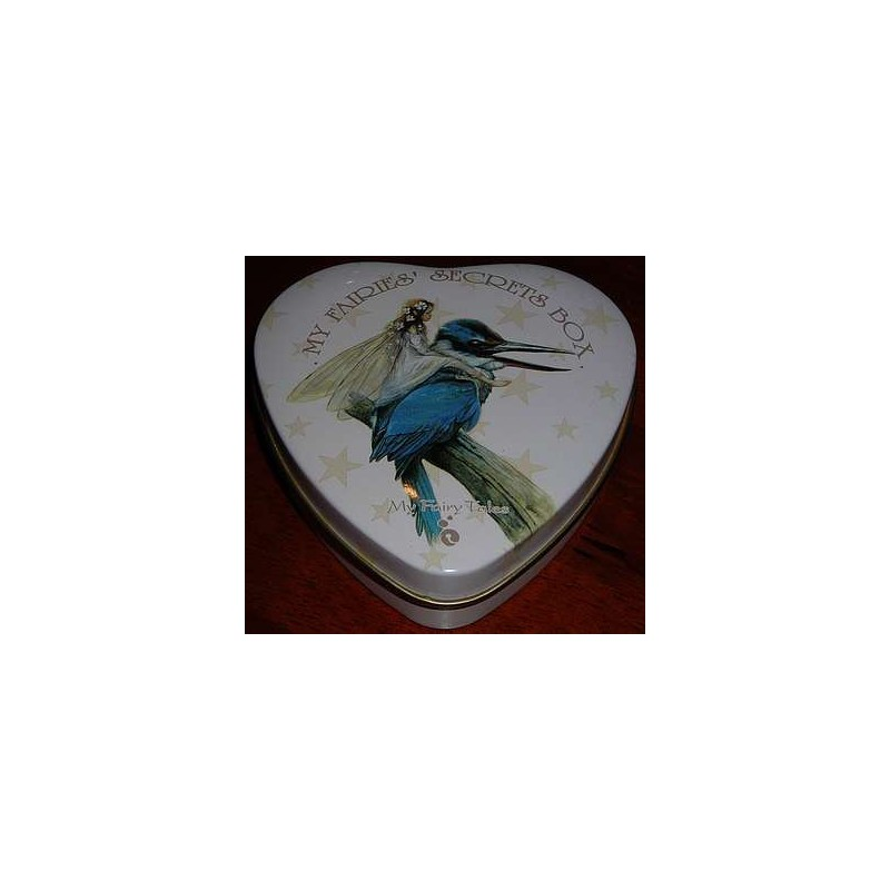 Boîte à secrets Fée sur un martin-pêcheur