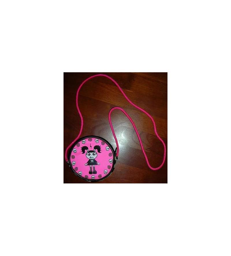 Porte monnaie Taga rose + cordon